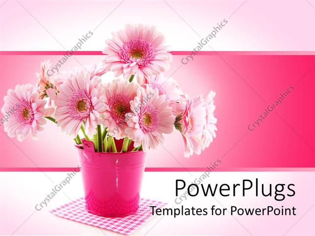 Powerpoint template a depiction of a beautiful flower pot with powerpoint template displaying a depiction of a beautiful flower pot with pinkish background pronofoot35fo Images