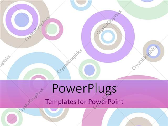PowerPoint Template Displaying Depiction of Colored Concentric Circles on White Background