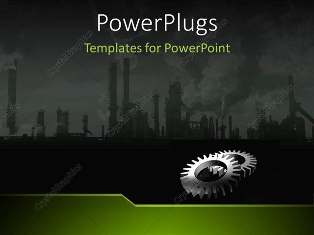 powerpoint template: a depiction of an industrial background with, Modern powerpoint