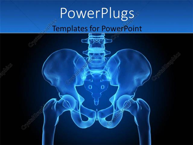Powerpoint template depiction of x ray scan of human hips region powerpoint template displaying depiction of x ray scan of human hips region toneelgroepblik Choice Image
