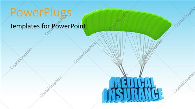Powerpoint template a parachute with medical insurance and sky in powerpoint template displaying a parachute with medical insurance and sky in background toneelgroepblik Images