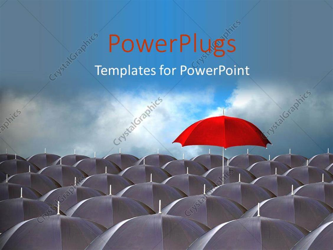 Powerpoint template distinct red umbrella above ash colored powerpoint template displaying distinct red umbrella above ash colored umbrella over cloudy sky toneelgroepblik Choice Image