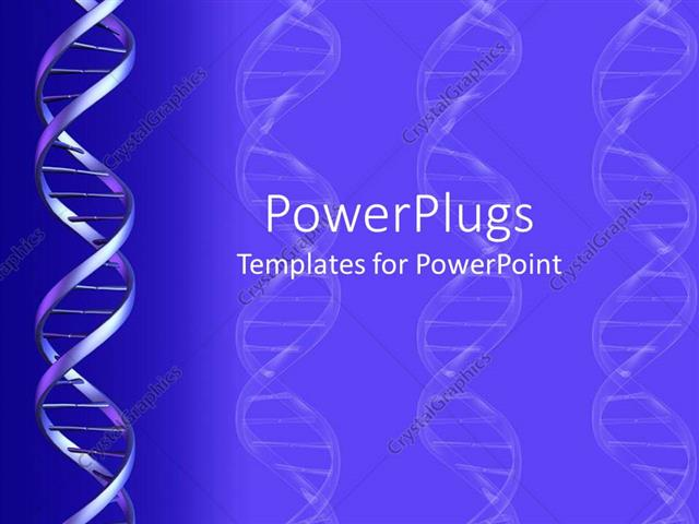 Powerpoint template a dna structure with bluish background and powerpoint template displaying a dna structure with bluish background and place for text toneelgroepblik Images