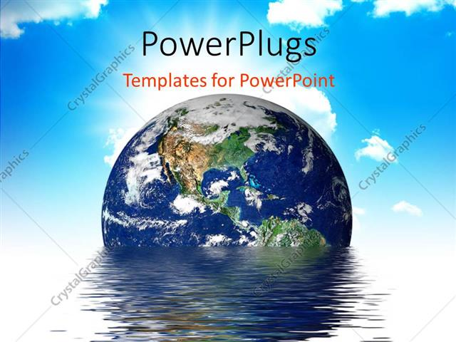 powerpoint template: earth melting into a puddle showing the, Modern powerpoint