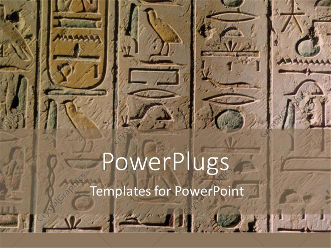 powerpoint template egyptian hieroglyphics craved in