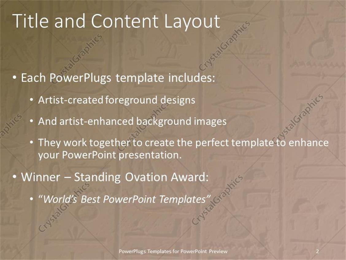 powerpoint template: egyptian hieroglyphics craved in stone for, Modern powerpoint