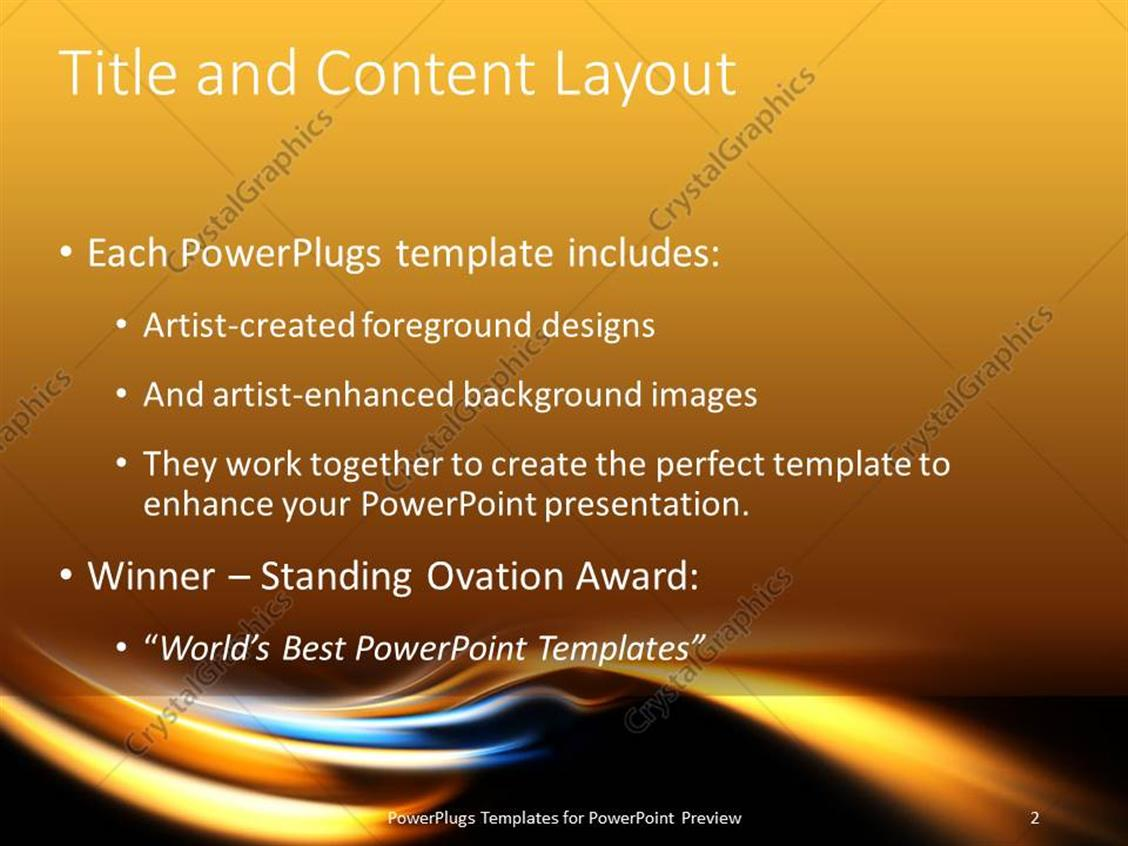 Powerpoint template electric blue and gold curves on black powerpoint products templates secure standing ovation award toneelgroepblik Choice Image