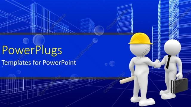 Powerpoint Template Agreement Reached As Engineer Shake Hands
