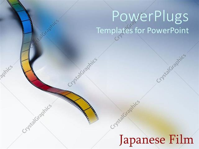 Powerpoint template film text with color film strip on colorful powerpoint template displaying film text with color film strip on colorful background pronofoot35fo Image collections