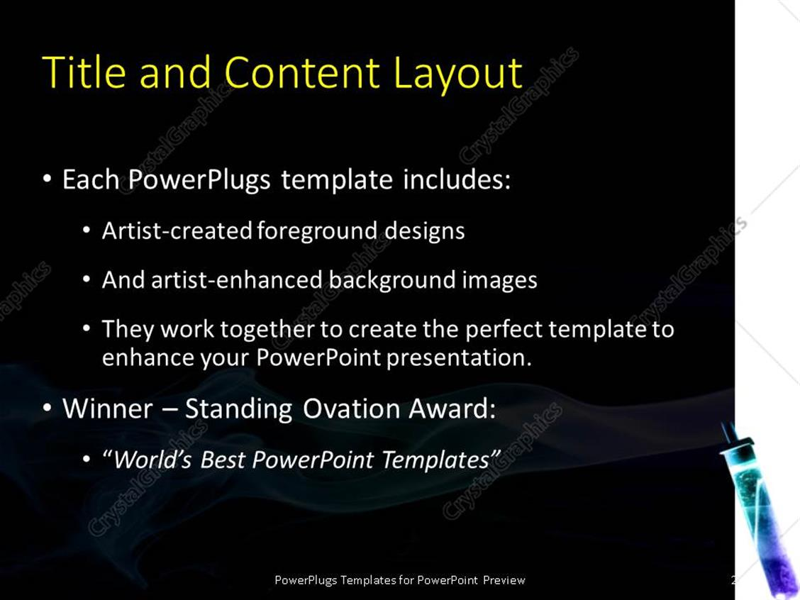 powerpoint template: flash with chemicals in flame and steam over, Presentation templates
