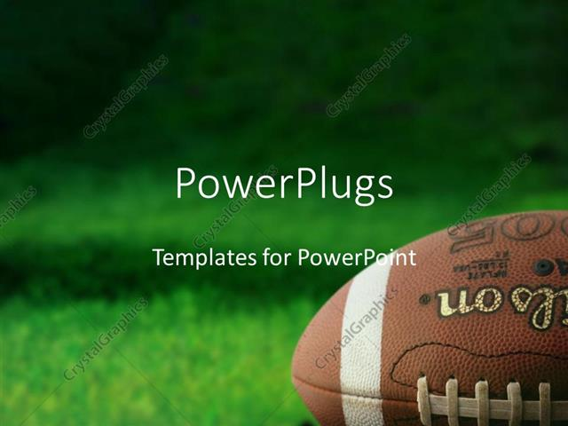 Powerpoint Template: Football On Grass Athletes Playing Sports