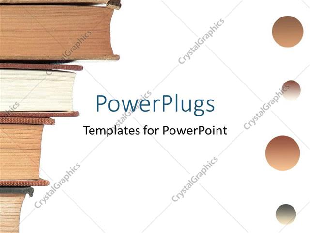 powerpoint template four books placed over each other, Powerpoint