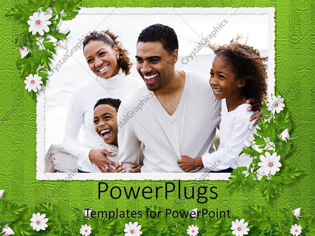 Powerpoint template frame with depiction of happy african powerpoint template displaying frame with depiction of happy african american family with mom dad boy toneelgroepblik Choice Image