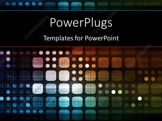 PowerPoint Template Displaying Futuristic Technology as a Next Generation Art