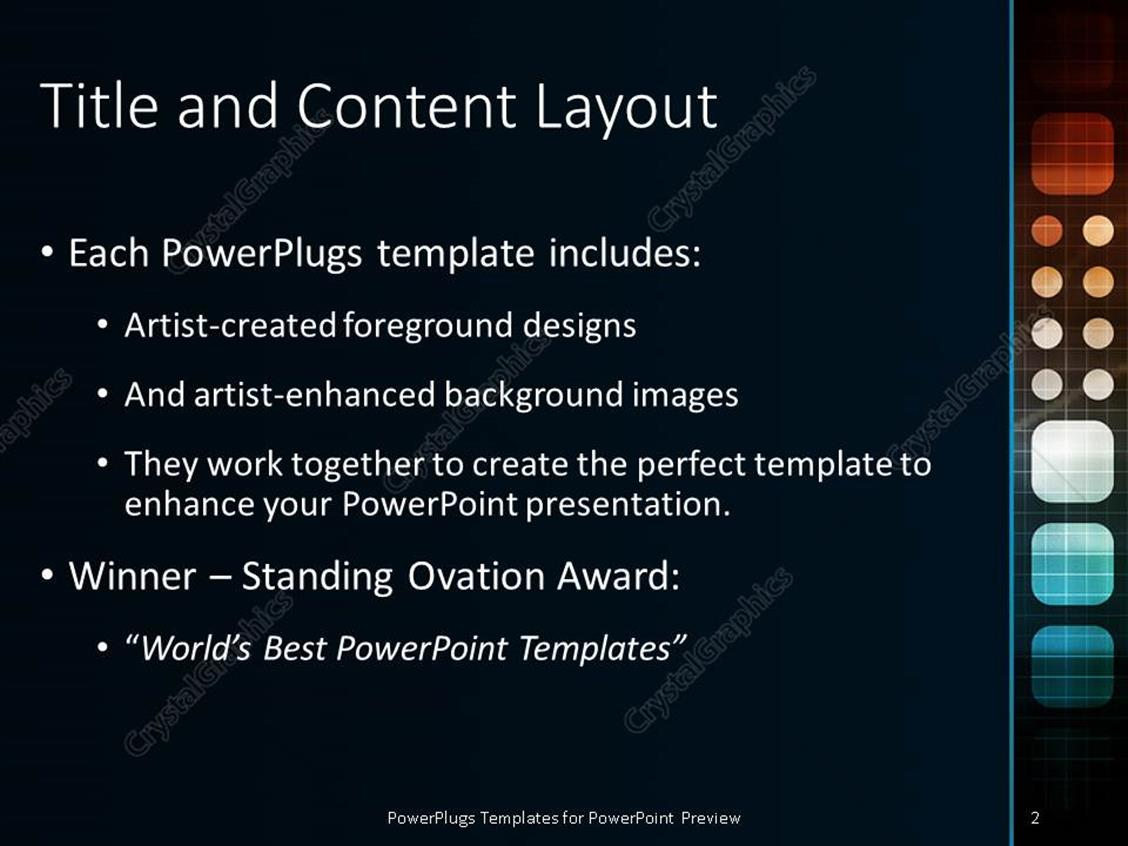 powerpoint template: futuristic technology as a next generation, Modern powerpoint