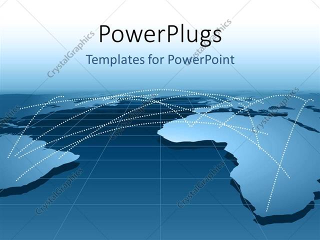 powerpoint template global business relationship distribution, Powerpoint