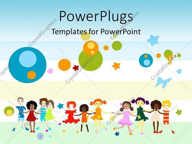 powerpoint template: global diversity graphics and collaboration, Modern powerpoint