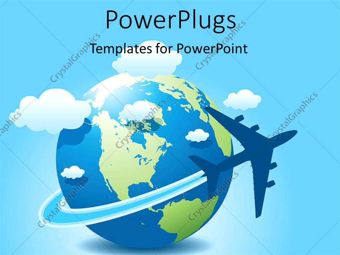 Powerpoint template a globe with clouds and bluish background 1469 powerpoint template displaying a globe with clouds and bluish background toneelgroepblik Images