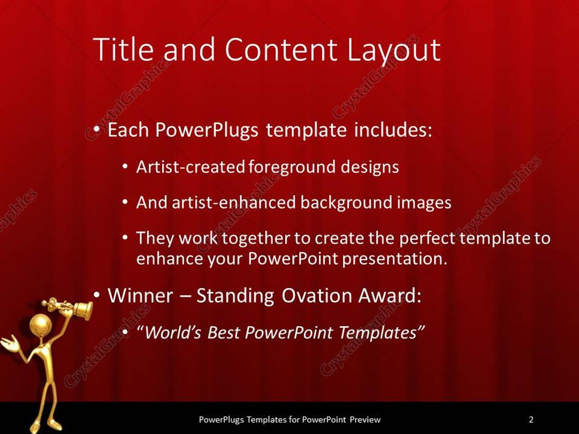 Powerpoint template gold 3d figure holding gold award statuette powerpoint products templates secure toneelgroepblik Choice Image
