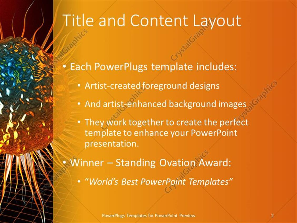 powerpoint template: a gold colored, shinning 3d bone marrow over, Modern powerpoint