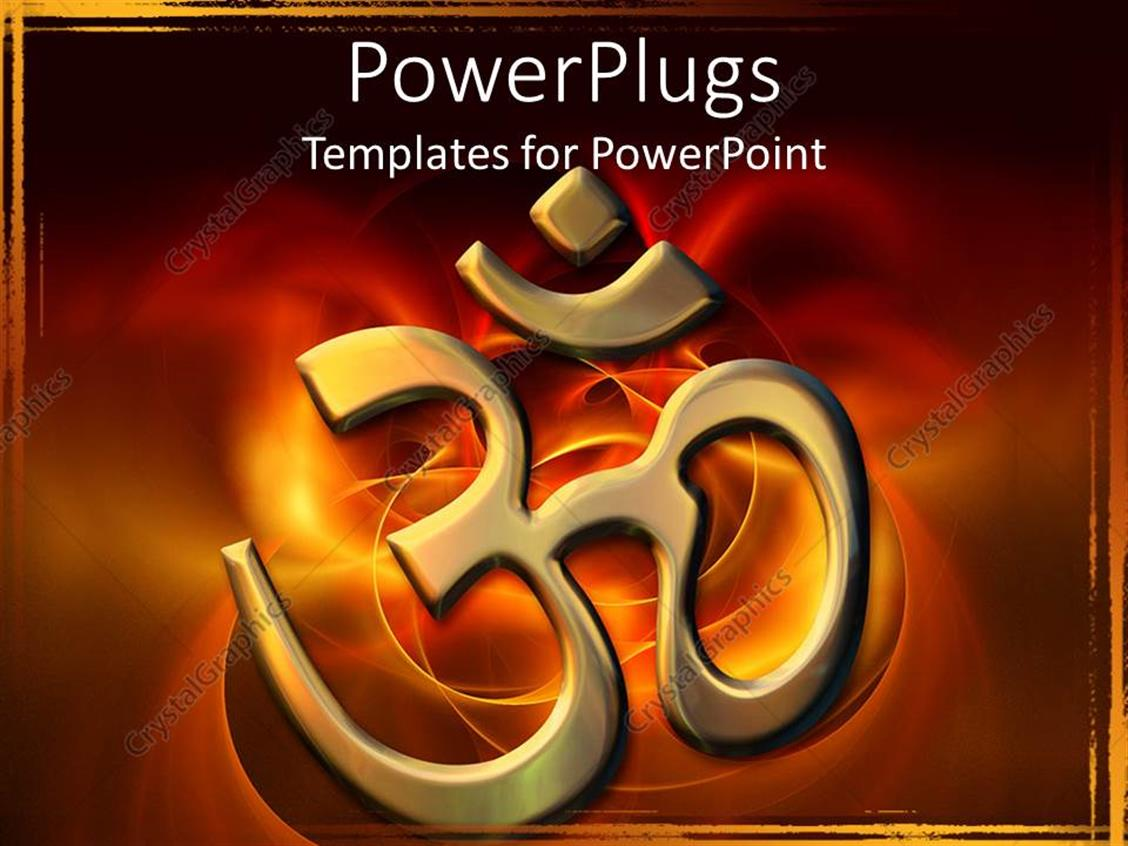 powerpoint template golden sacred hindu syllable meaning