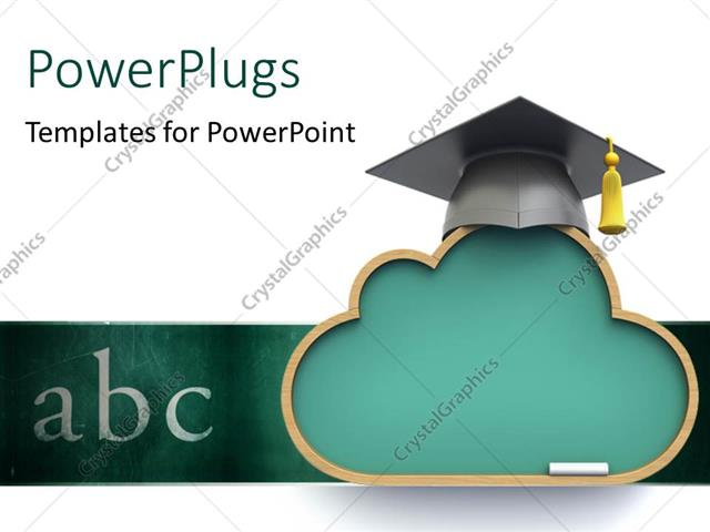 powerpoint template: a graduation cap with the words abc (10981), Modern powerpoint