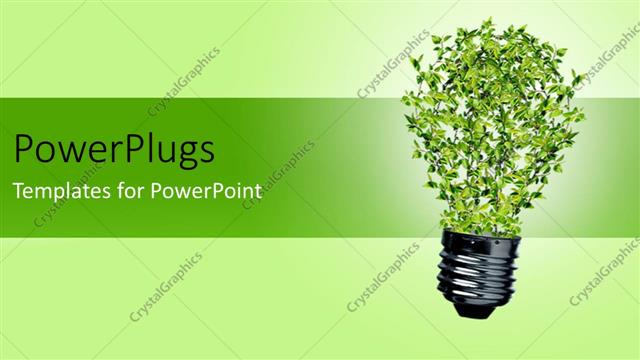 Powerpoint template green bulb with leaves as a symbol of energy powerpoint template displaying green bulb with leaves as a symbol of energy and nature depicting recycle toneelgroepblik Choice Image