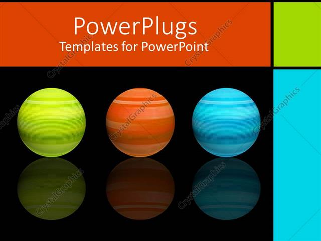 Blue And Orange Powerpoint Template