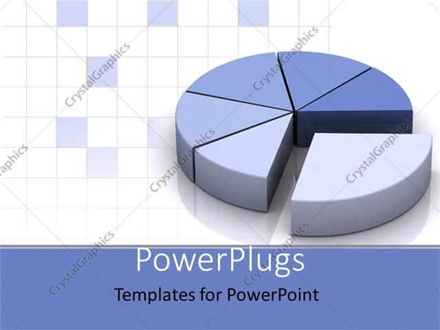 PowerPoint Template grey and blue pie chart for data as a – Pie Chart Templates