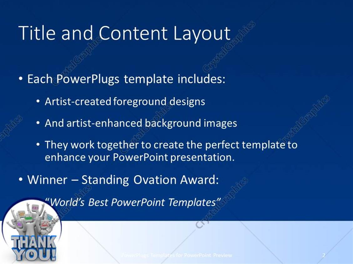 powerpoint template: a group of figures with the word thank you (6774), Presentation templates