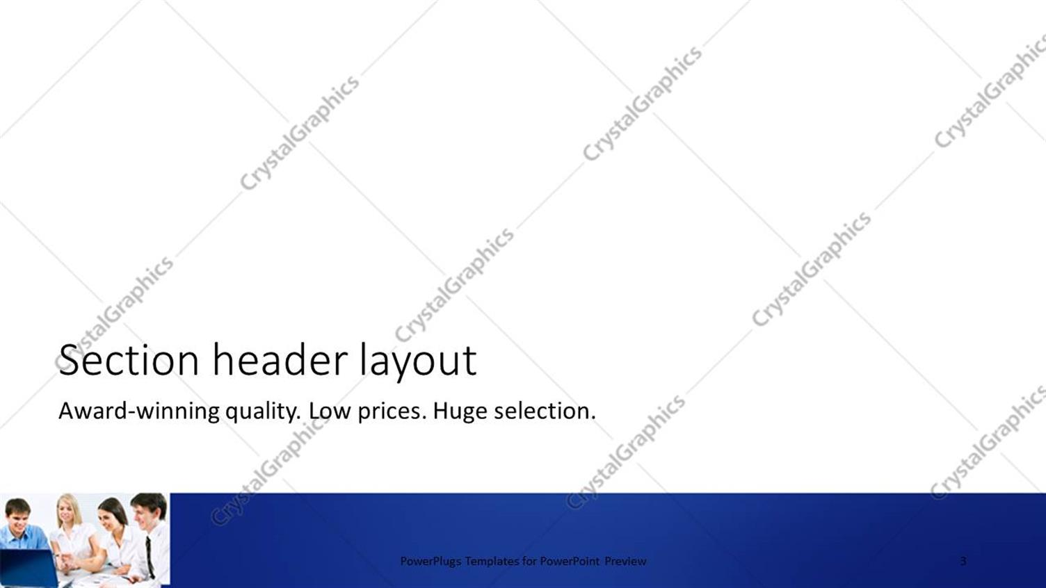 PowerPoint Template: a group of people working in the office on a ...