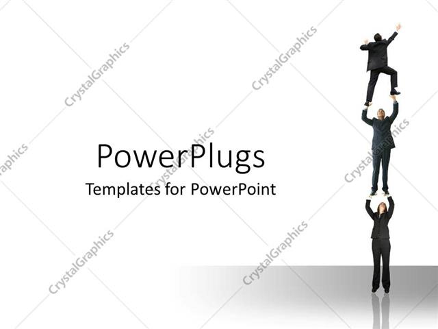 PowerPoint Template: a group of professionals trying to ...