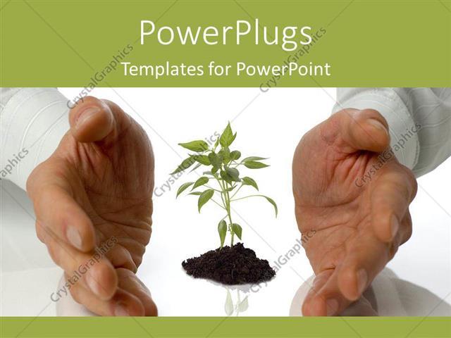 powerpoint template: growing plants garden artificial life labs, Presentation templates