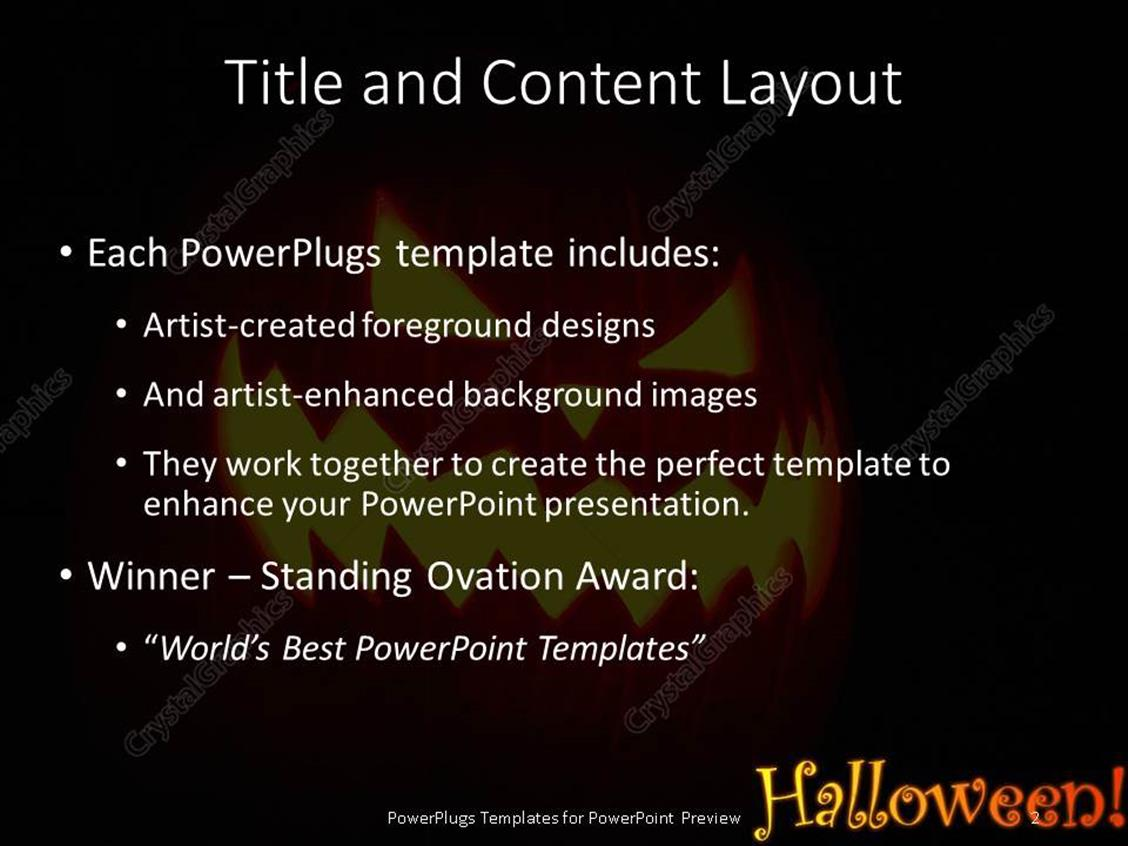 powerpoint template: halloween theme with jack-o-lantern, Modern powerpoint