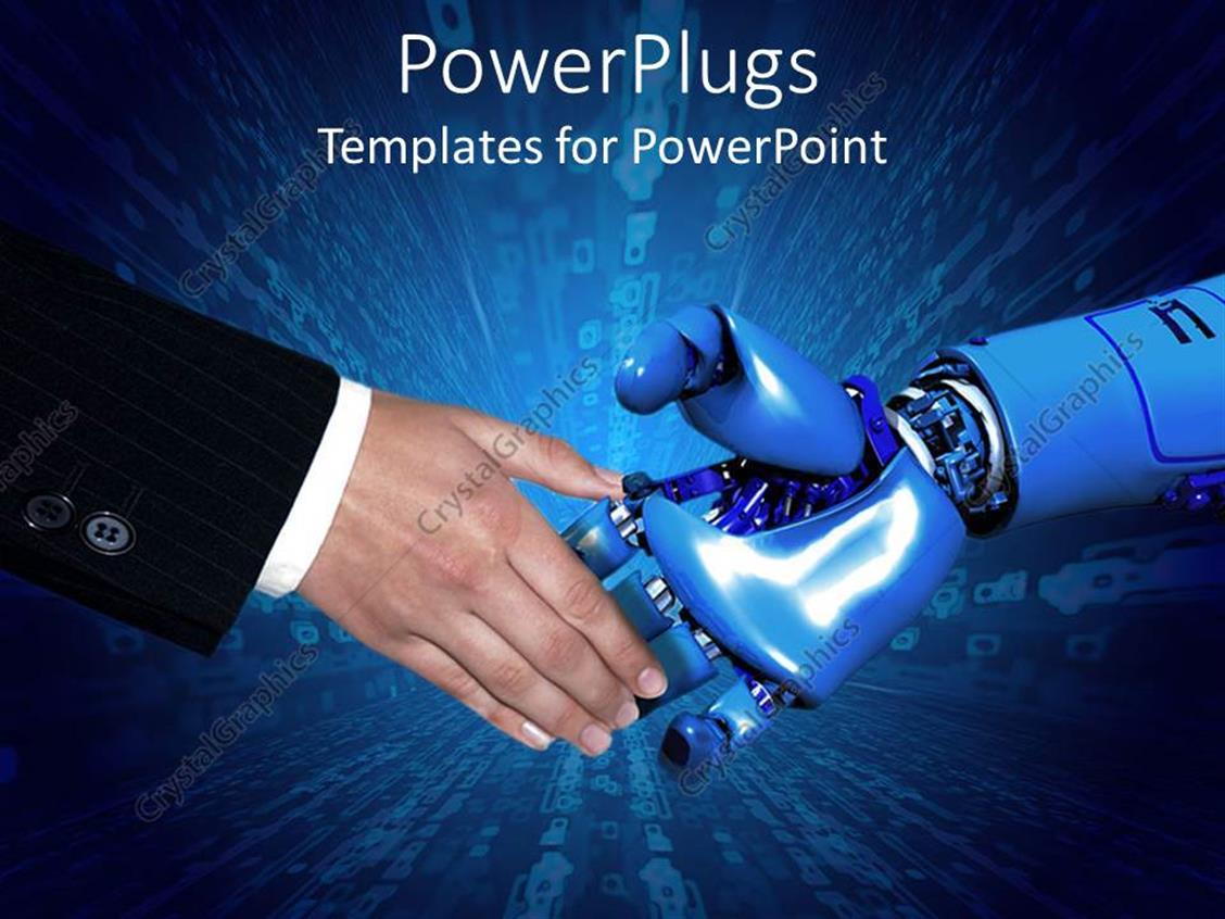 PowerPoint Template: handshake between business man in ...