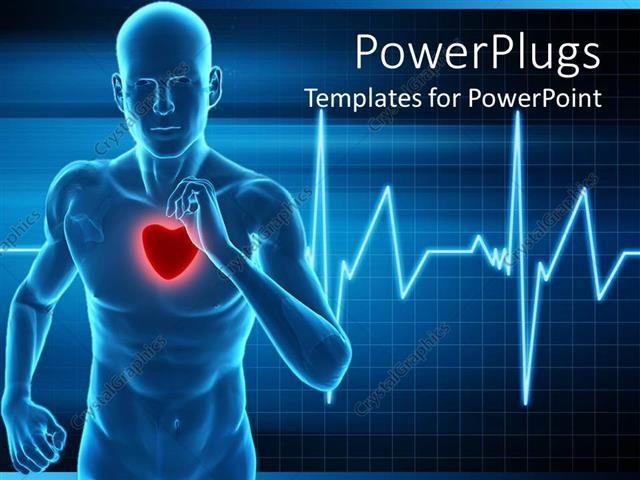 Powerpoint Template Heart Rate Monitor Live A Healthy Life