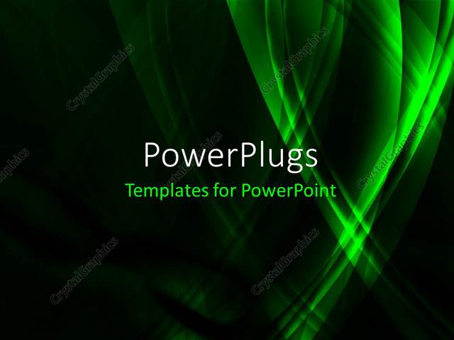 powerpoint template: high-tech green infinity concept with black, Modern powerpoint