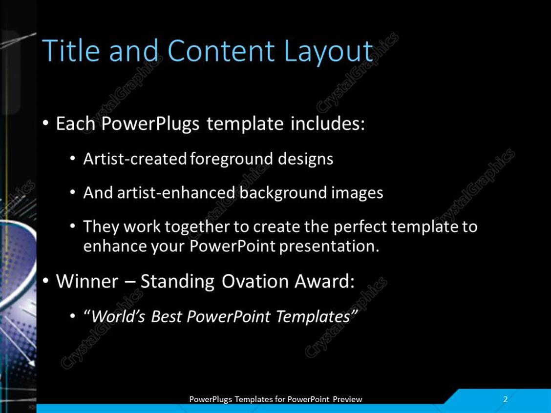 powerpoint template: high-tech infinity concept with black color, Modern powerpoint