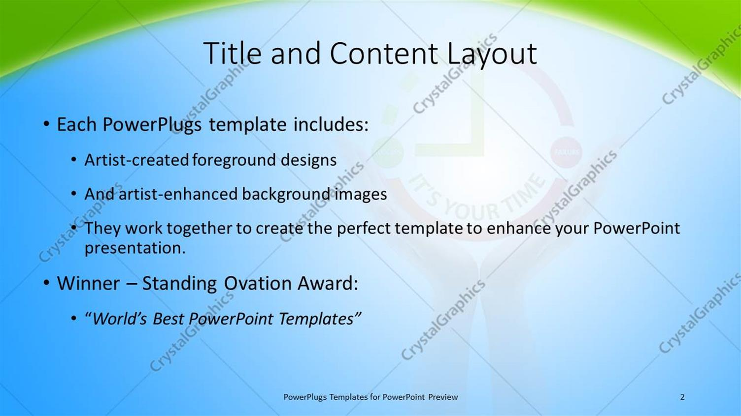 Powerpoint template human hand holds clock symbol high over blue powerpoint products templates secure toneelgroepblik Images