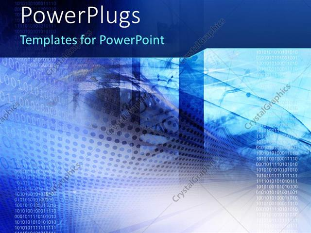 powerpoint template: high tech background with binary code and, Modern powerpoint