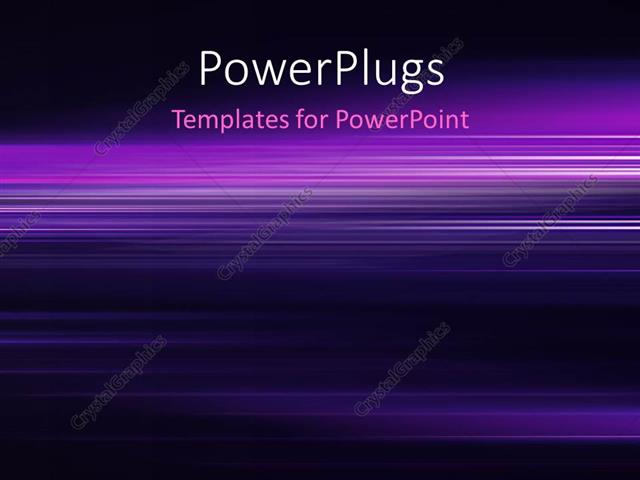 powerpoint template: high tech horizontal lines and shades with, Modern powerpoint