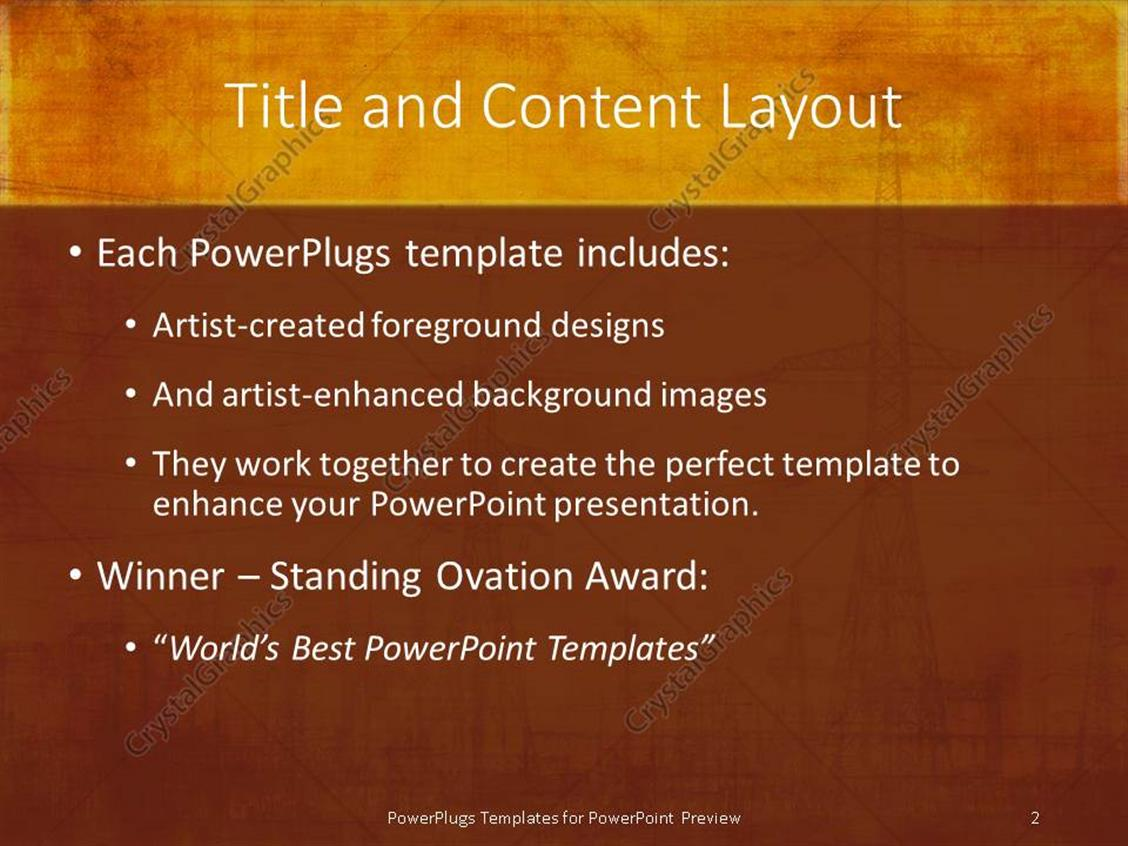 Awards powerpoint template word form template powerpoint template high voltage electricity poles on vintage high voltage electricity poles vintage xl 17184 1 toneelgroepblik Choice Image