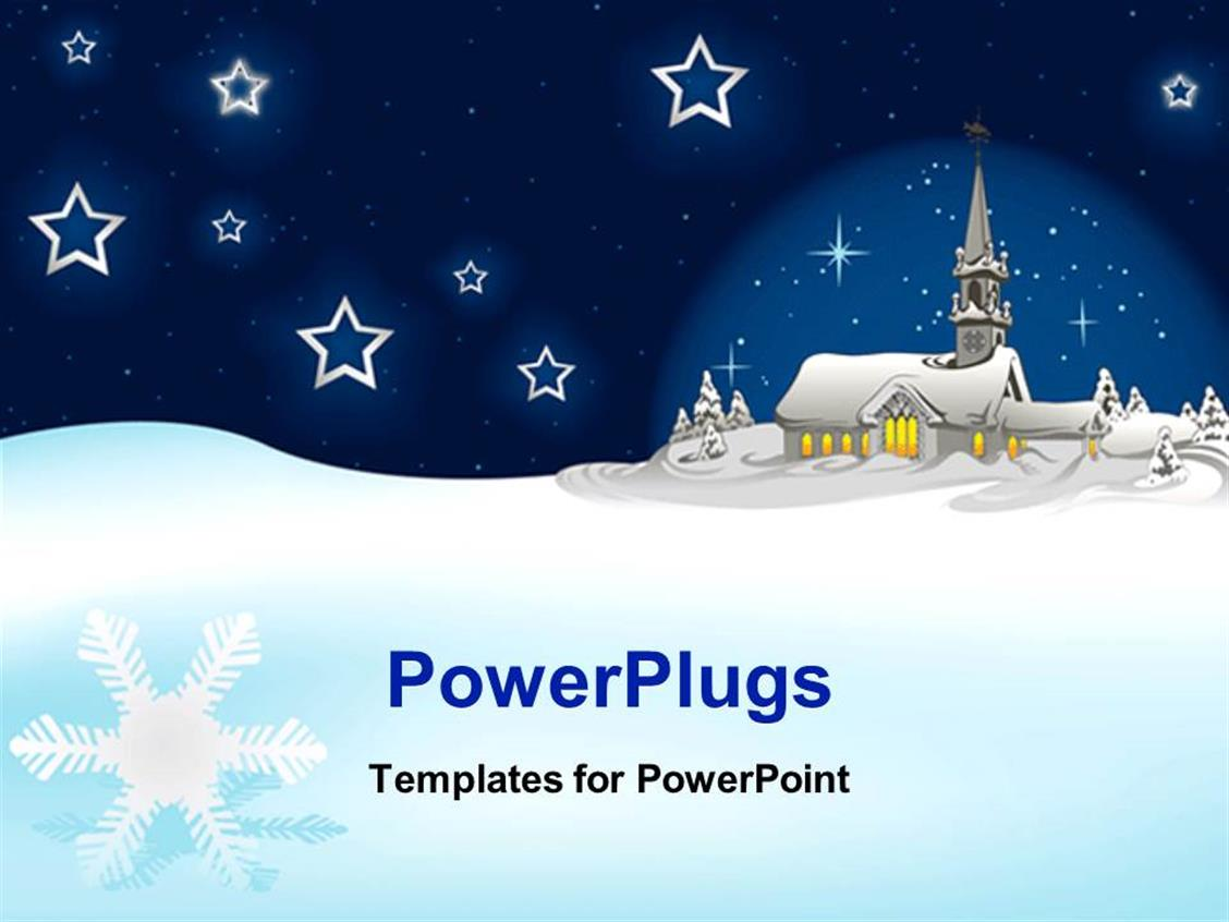 PowerPoint Template: a house and a number of stars in the ...