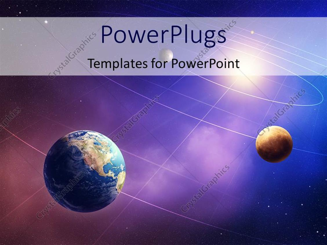 PowerPoint Template: Inner four solar system planets ...