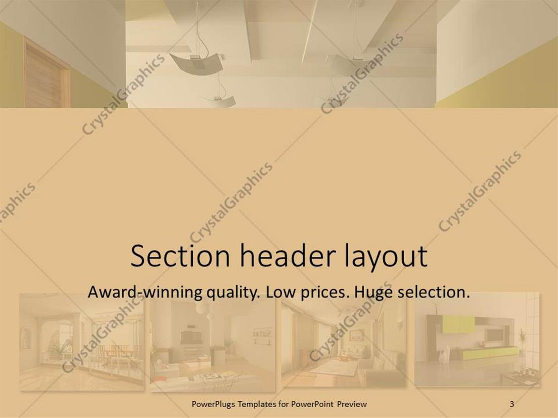 powerpoint template interior design apartment modules home