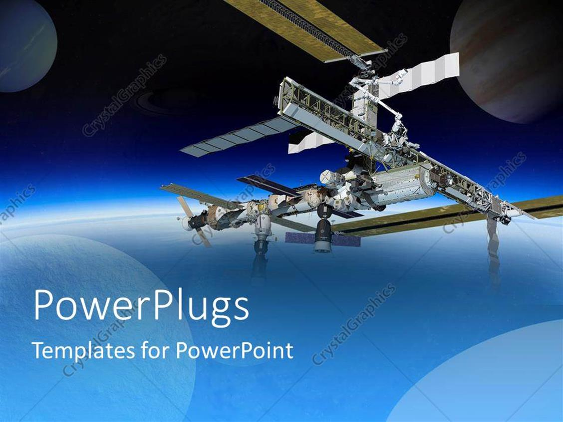 PowerPoint Template: International Space Station In Space