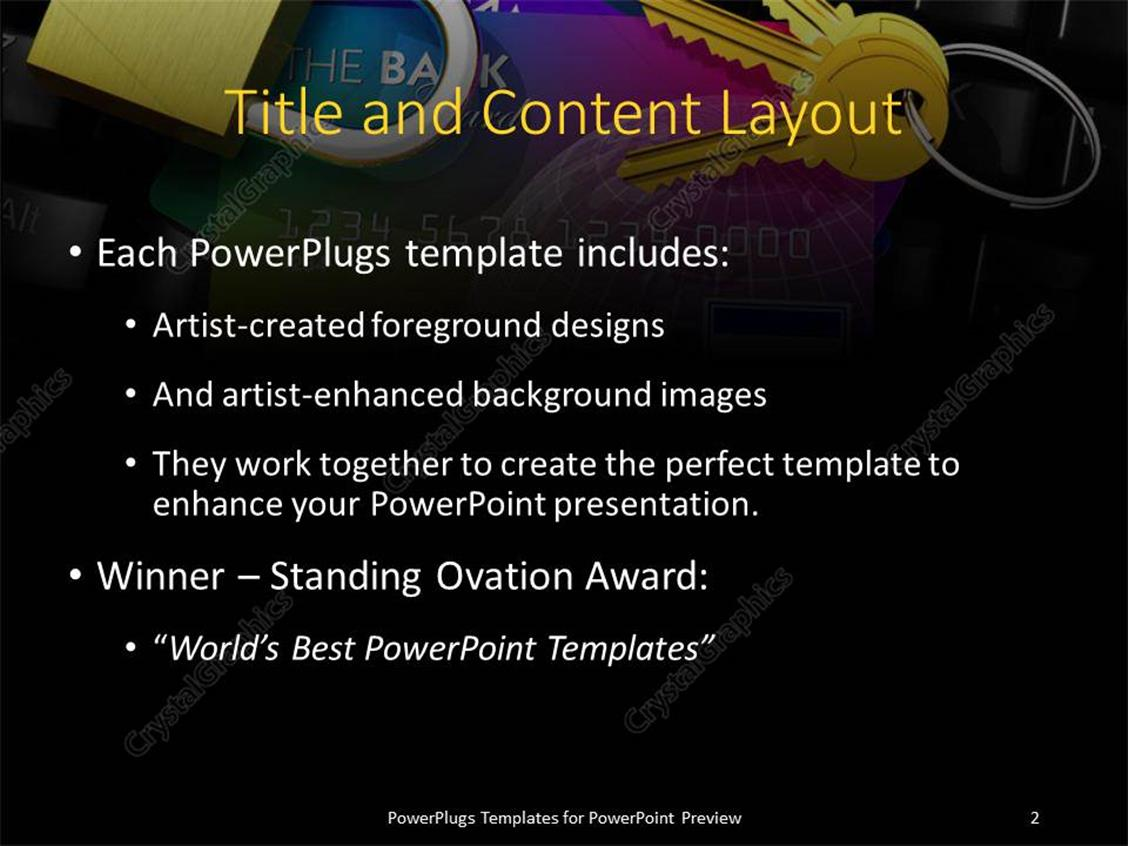 Powerpoint template internet banking security depiction with powerpoint products templates secure toneelgroepblik Image collections