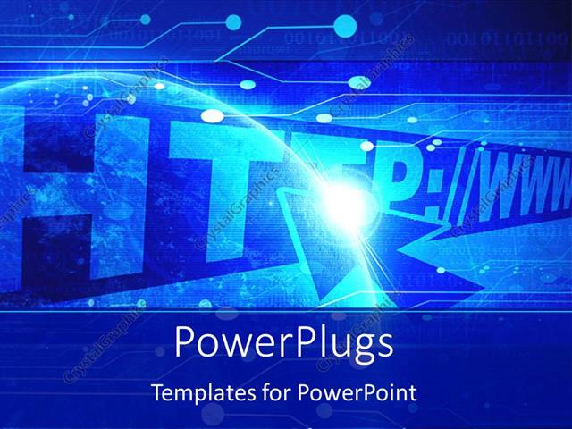 Powerpoint template internet theme with address bar and address powerpoint template displaying internet theme with address bar and address inserted and cursor over http toneelgroepblik