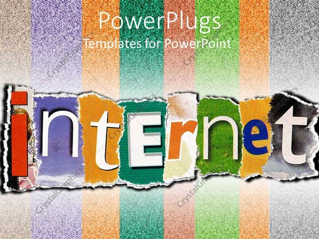 powerpoint template: internet word of magazine and newspaper, Modern powerpoint