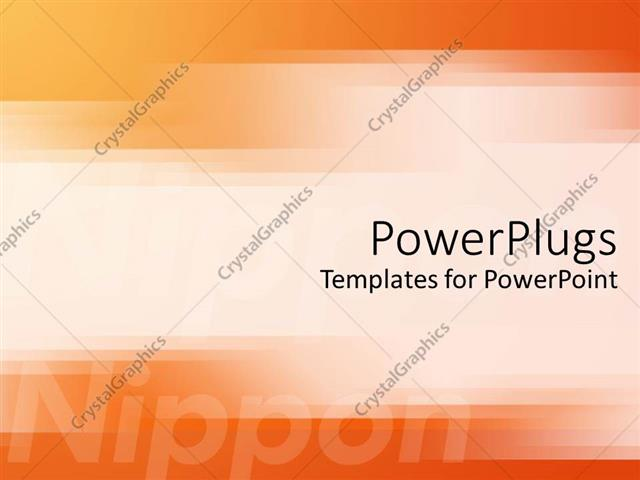 powerpoint template: japanese technology motif with orange and, Presentation templates